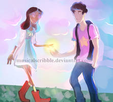 Connie and Steven by musicalscribble