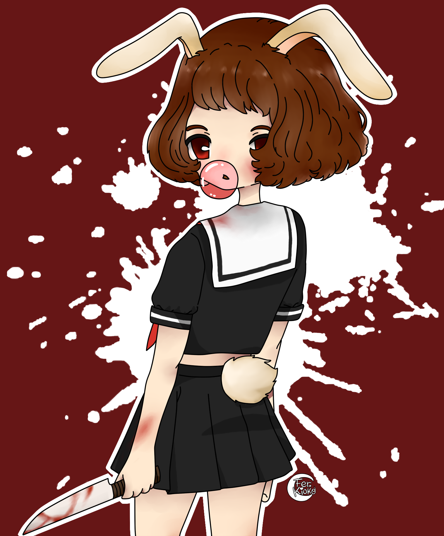 Kawaii gore by ferkioko on deviantart for Imagenes de anime gore
