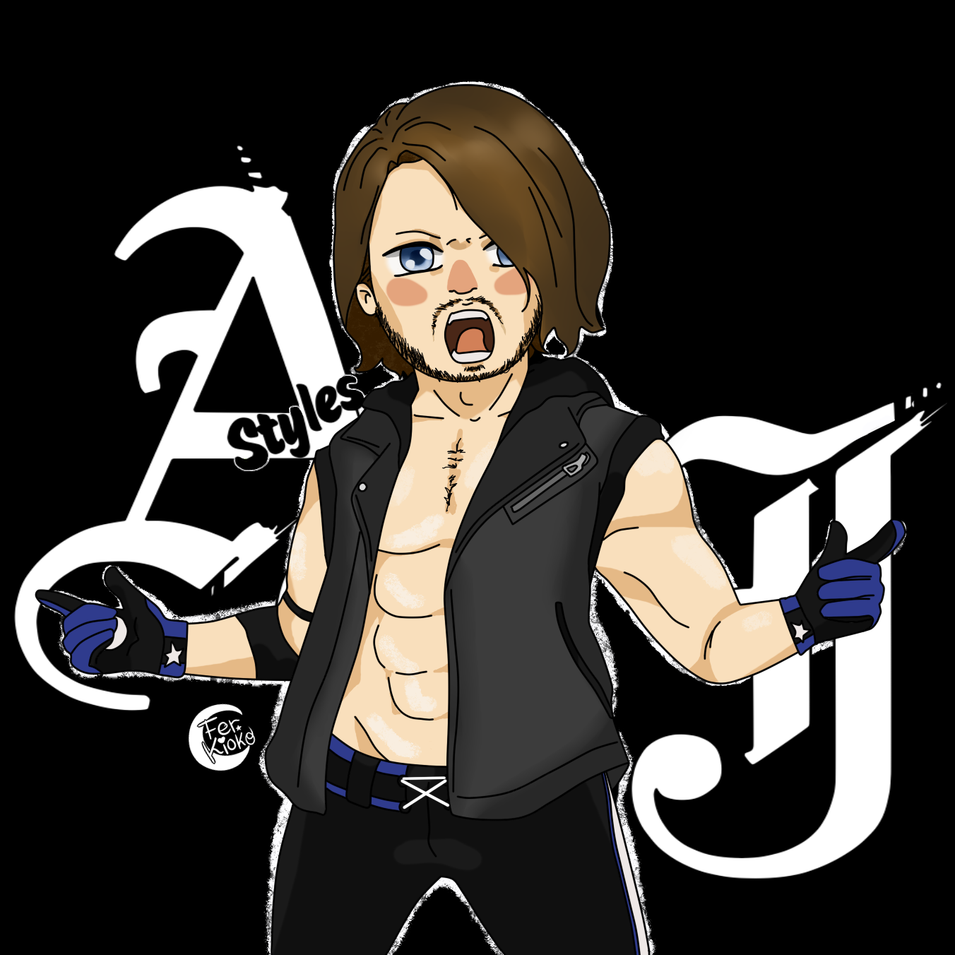 AJ Styles By FerKioko On DeviantArt