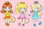 Princess Peach Daisy Rosalina