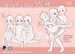 [OPEN UNLIMITED YCH] Triple Love