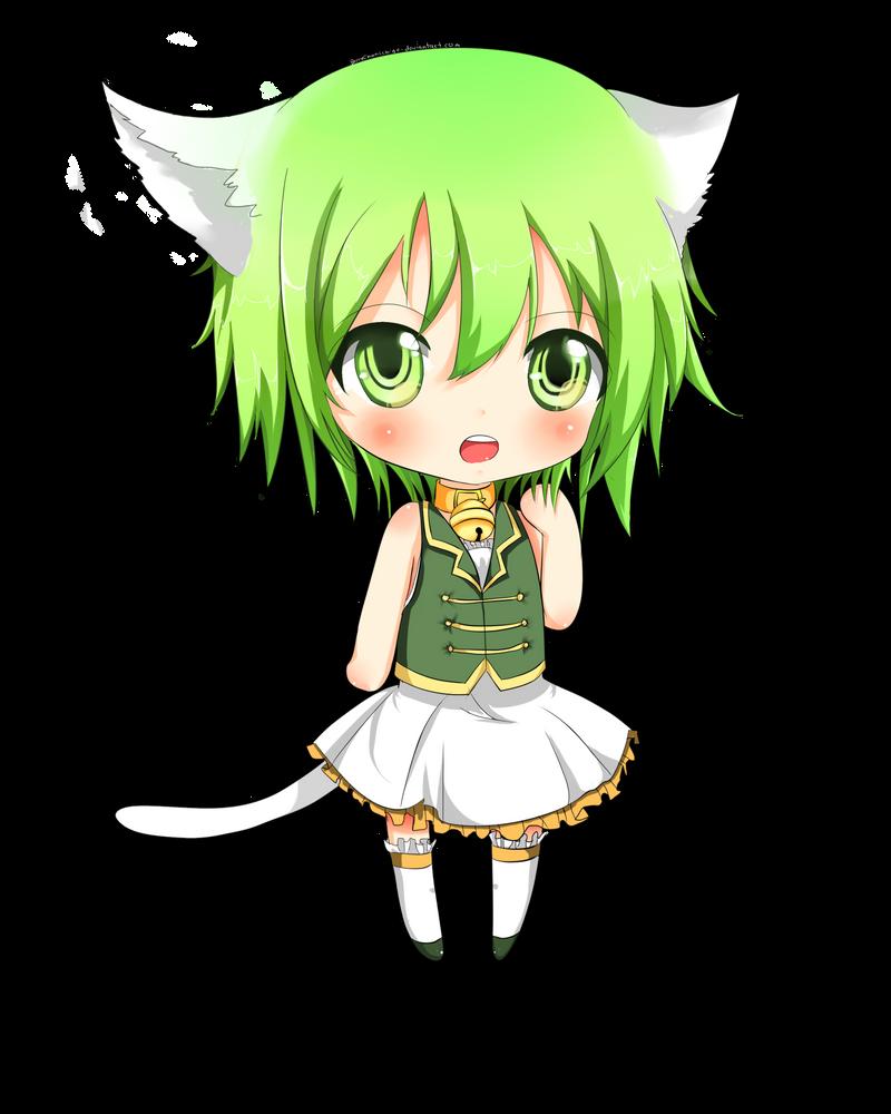 Gumi Chibi Cat Gumi Chibi by Berrychanichigo