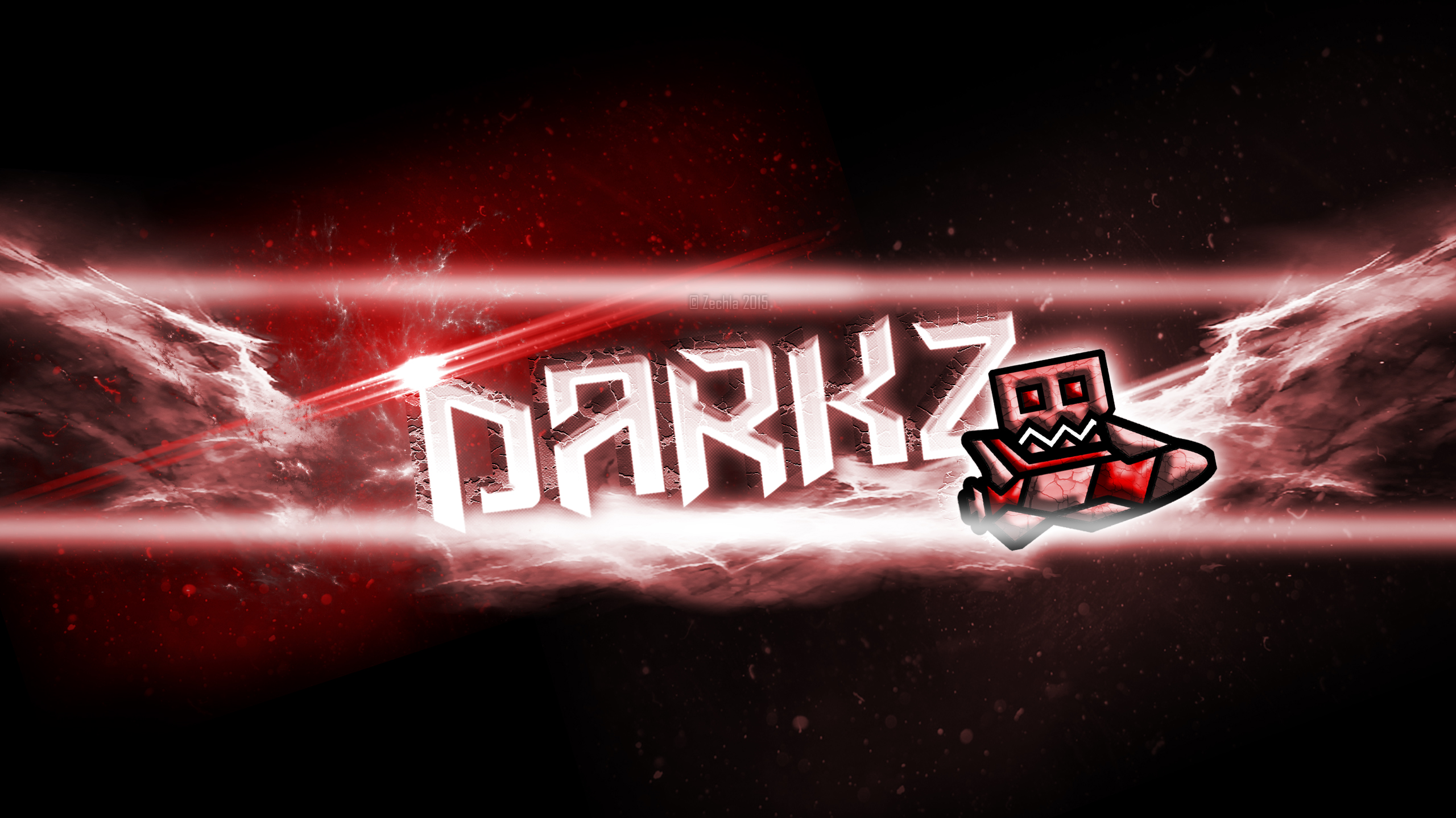 Geometry dash darkz s youtube banner by zechla on deviantart