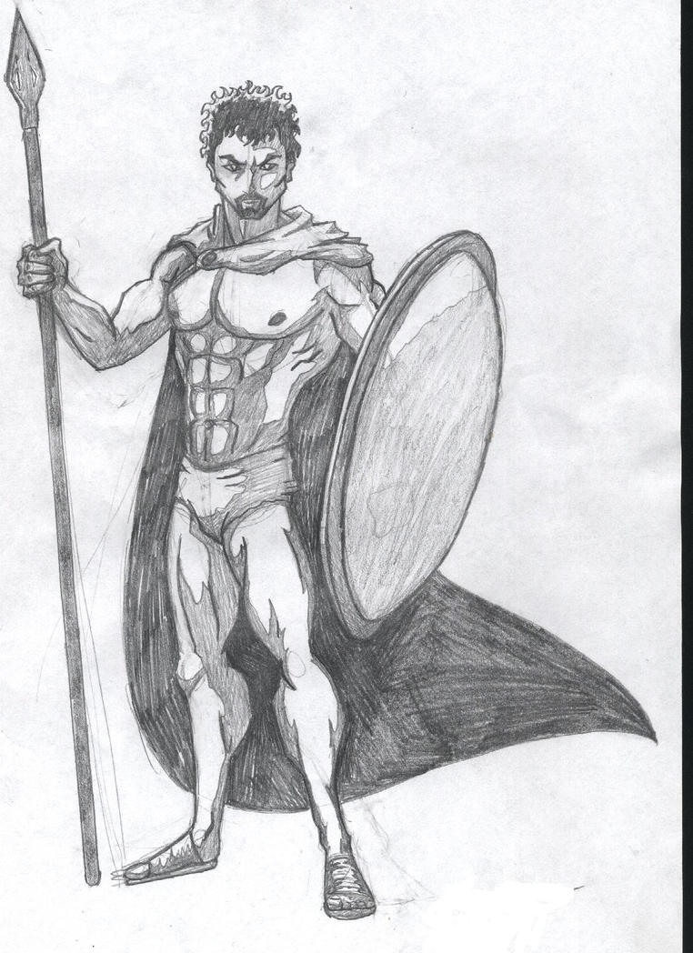 Greek God Ares Drawing Ares sketch by halfdragon62