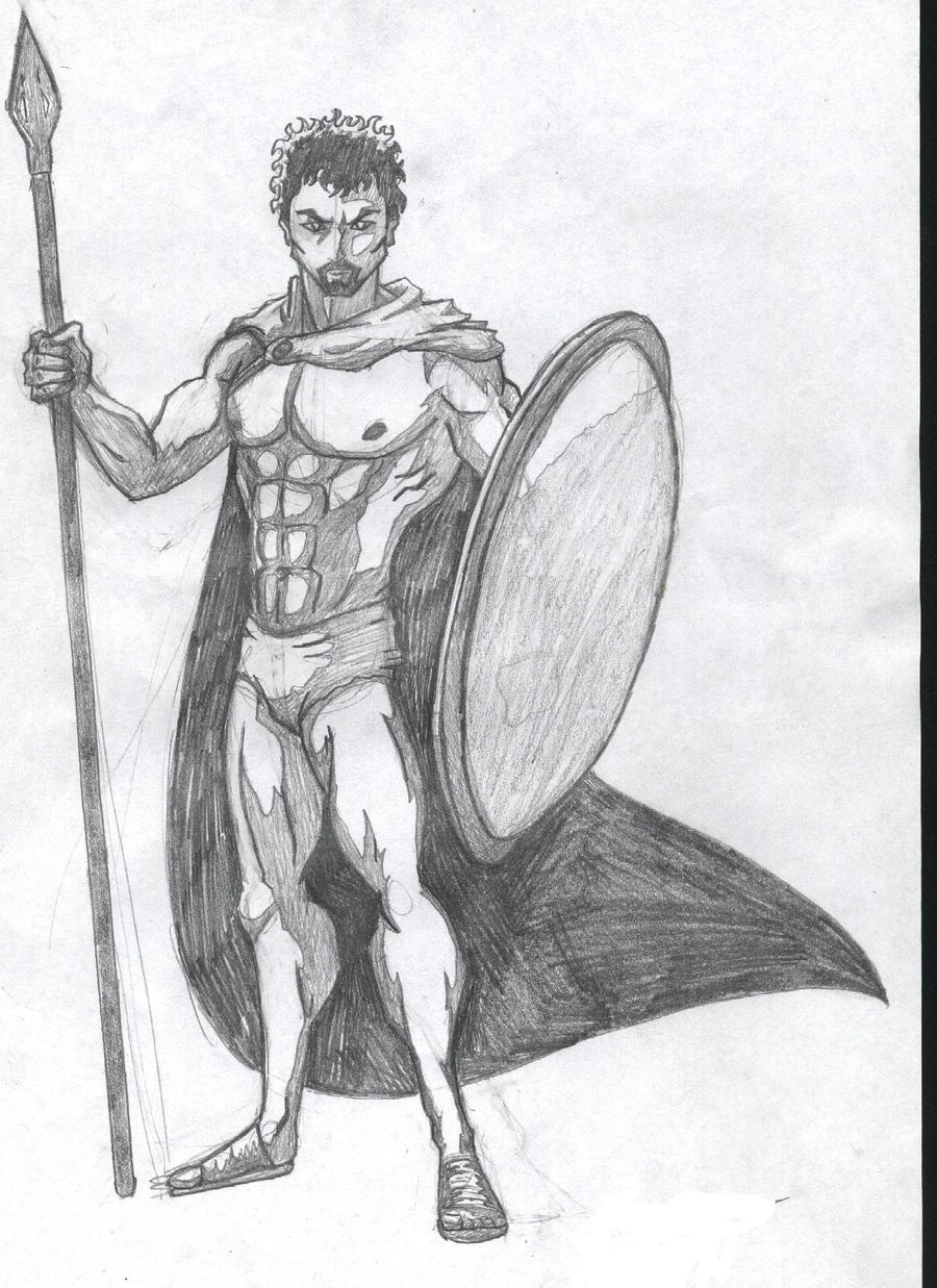 Greek God Ares Drawing Ares sketch by halfdra...