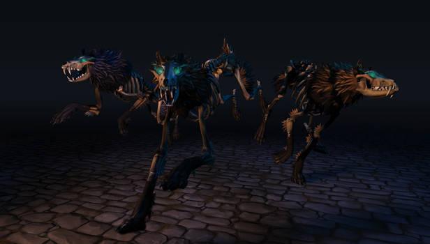 Skeleton  Wolves Trio