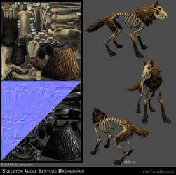 Skeleton Wolf Texture Breakdown