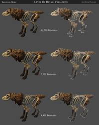 Skeleton Wolf Detail Variations
