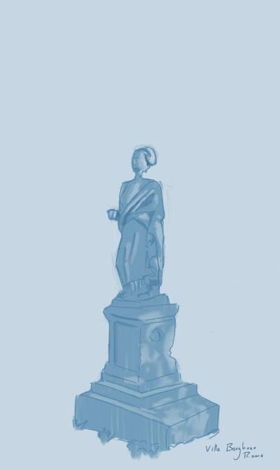 Statue in Villa Borghese by nikolasalokin