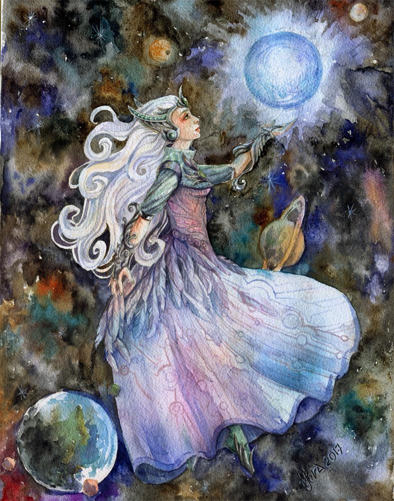 cosmic mother of pearl by MoraShadow