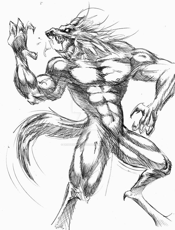 lycanthrope sketch by deathwholaughs