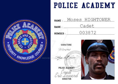 police academy card moses hightower by moviecard on deviantart. Black Bedroom Furniture Sets. Home Design Ideas