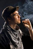 STOCK cuban man smokes by darkangelkiss