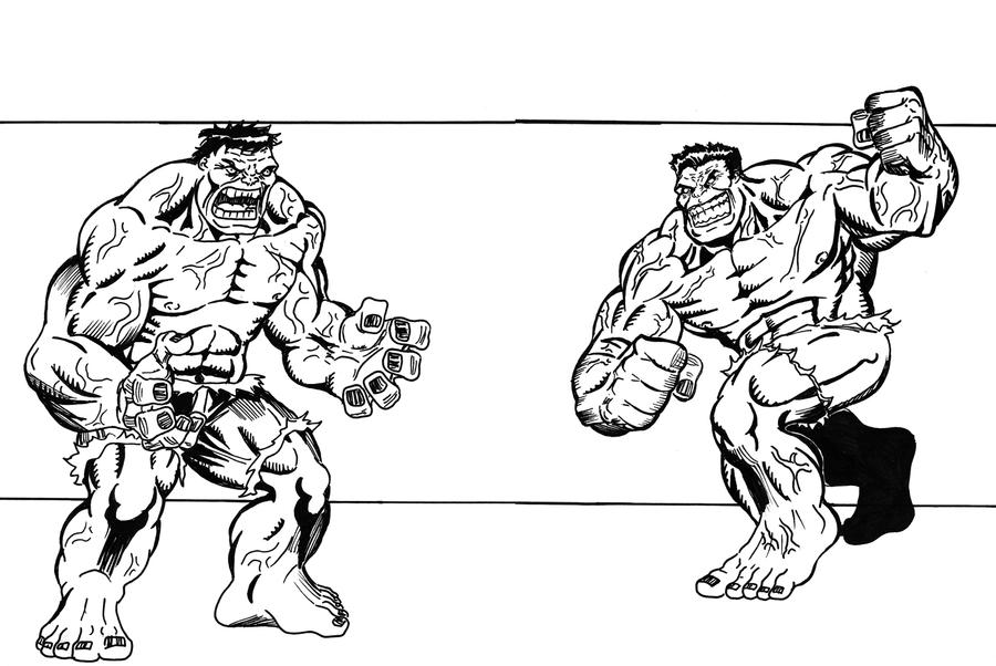 Green Hulk Coloring Pages