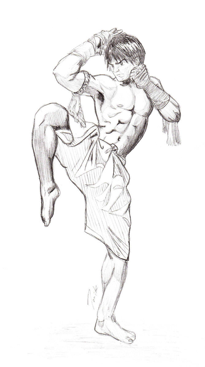 Jaa Ideal tony jaa fighting sketchtoniok7 on deviantart