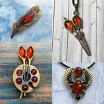 Amber brooches and pendants by BDSart