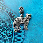 Celtic cat necklace by BDSart
