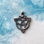 Dragon Ouroboros and Celtic Triquetra necklace by BDSart