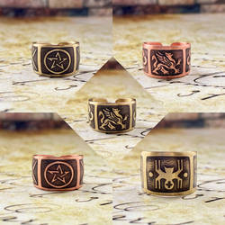 Rings. Brass and copper by BDSart