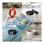 I Carved these rings from solid surface (corian) by BDSart