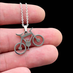Bicycle pendant, Stainless stee by BDSart