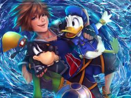 Kingdom Hearts II - Disney Friends + [SPEEDPAINT] by Kisellee
