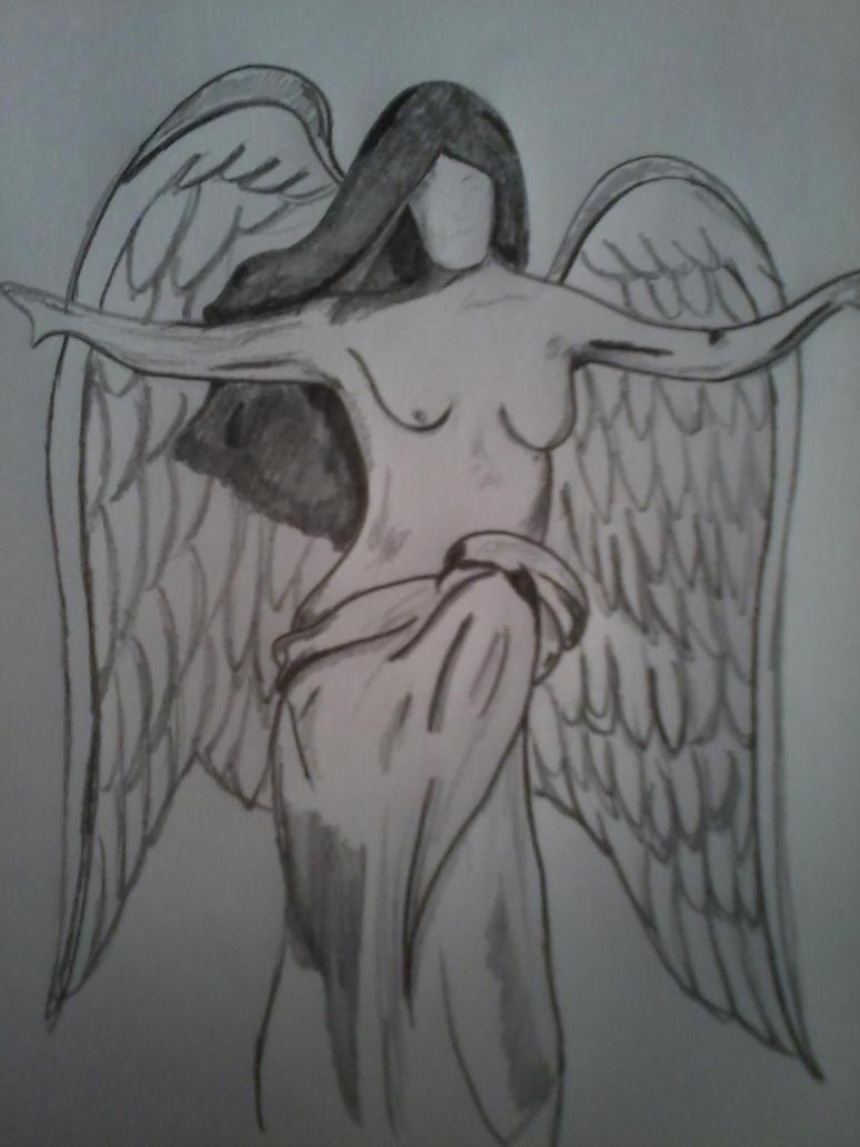 man angel tattoo