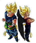 Goku y Vegeta Budokai AF