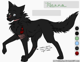 Hanna reference, scars added by Hannawolf