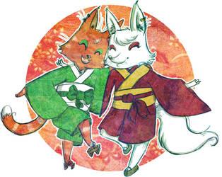Bakaneko to kitsune by AlexServantes
