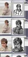 Step by step painting Ian