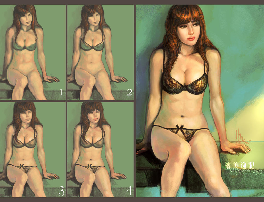 Sexy Girl Painting Process by tman2009