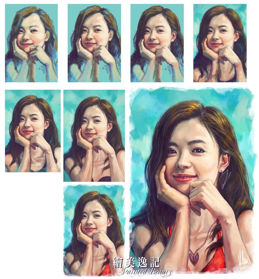 Painting Process for Han HyoJoo by tman2009