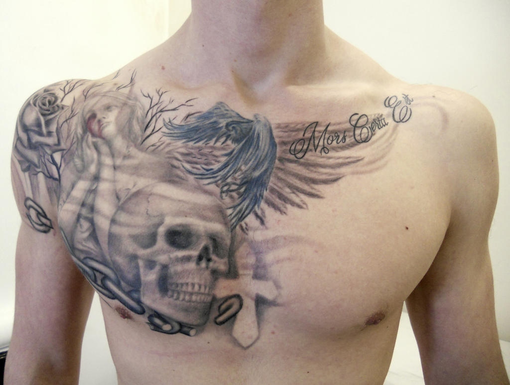 chest piece front rafael ferrari tattoo by autopirate on deviantart. Black Bedroom Furniture Sets. Home Design Ideas