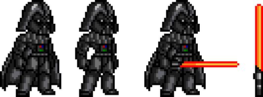 Pixel Art Star Wars Dark Vador