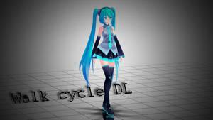 [MMD] Walk cycle [Motion DL]