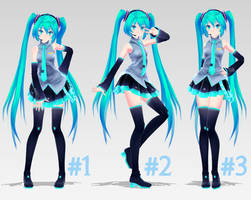 [MMD] 3 Poses [DL] by MinuzNegative