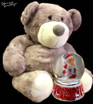 Mr. Teddy's Snow Globe - Digital Painting by monster-manifest