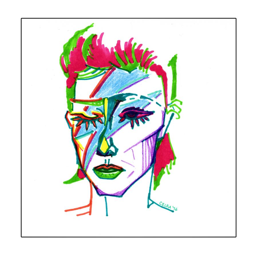Ziggy Stardust by cellcow
