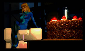 Zero Suit Samus loves cake