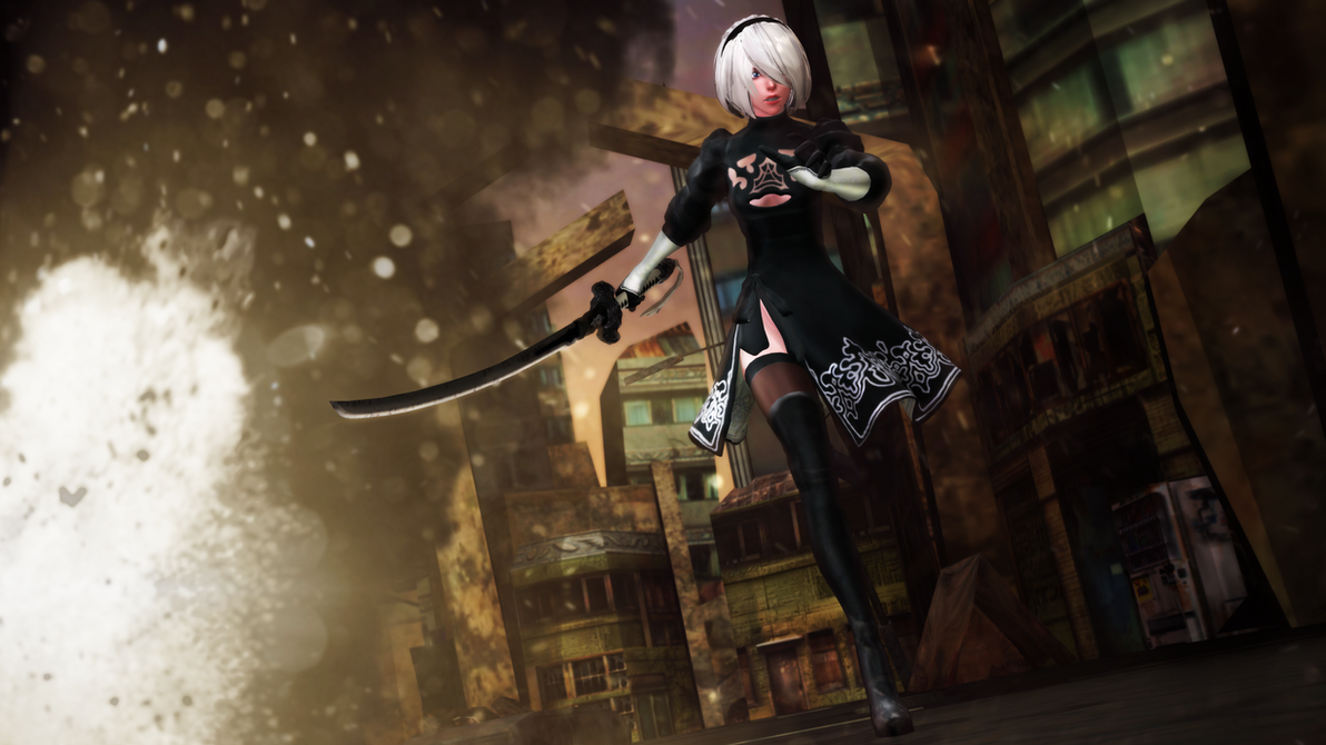 3d mmd nier automata 2b gets fucked in cakeface 7