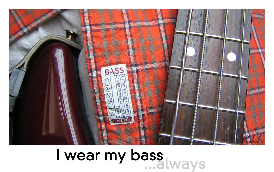 I wear my bass by rebelx