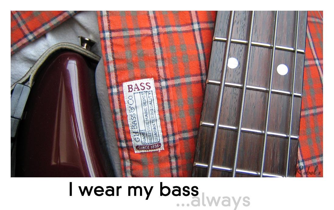 I wear my bass by rebelx