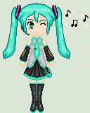Miku Hatsune Pixel by Nerdy-pixel-girl