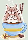 Totoro Latte Pixel by Nerdy-pixel-girl