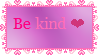 Be Kind Stamp by Nerdy-pixel-girl