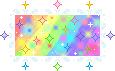 Rainbow Sparkle Stamp by Nerdy-pixel-girl
