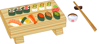 Tray of Sushi F2U by Nerdy-pixel-girl
