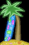 Surfboard Pixel F2U by Nerdy-pixel-girl