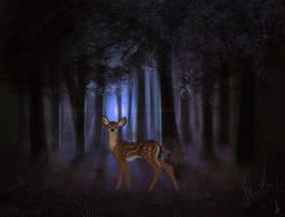 Forest Deer by Sabinzie